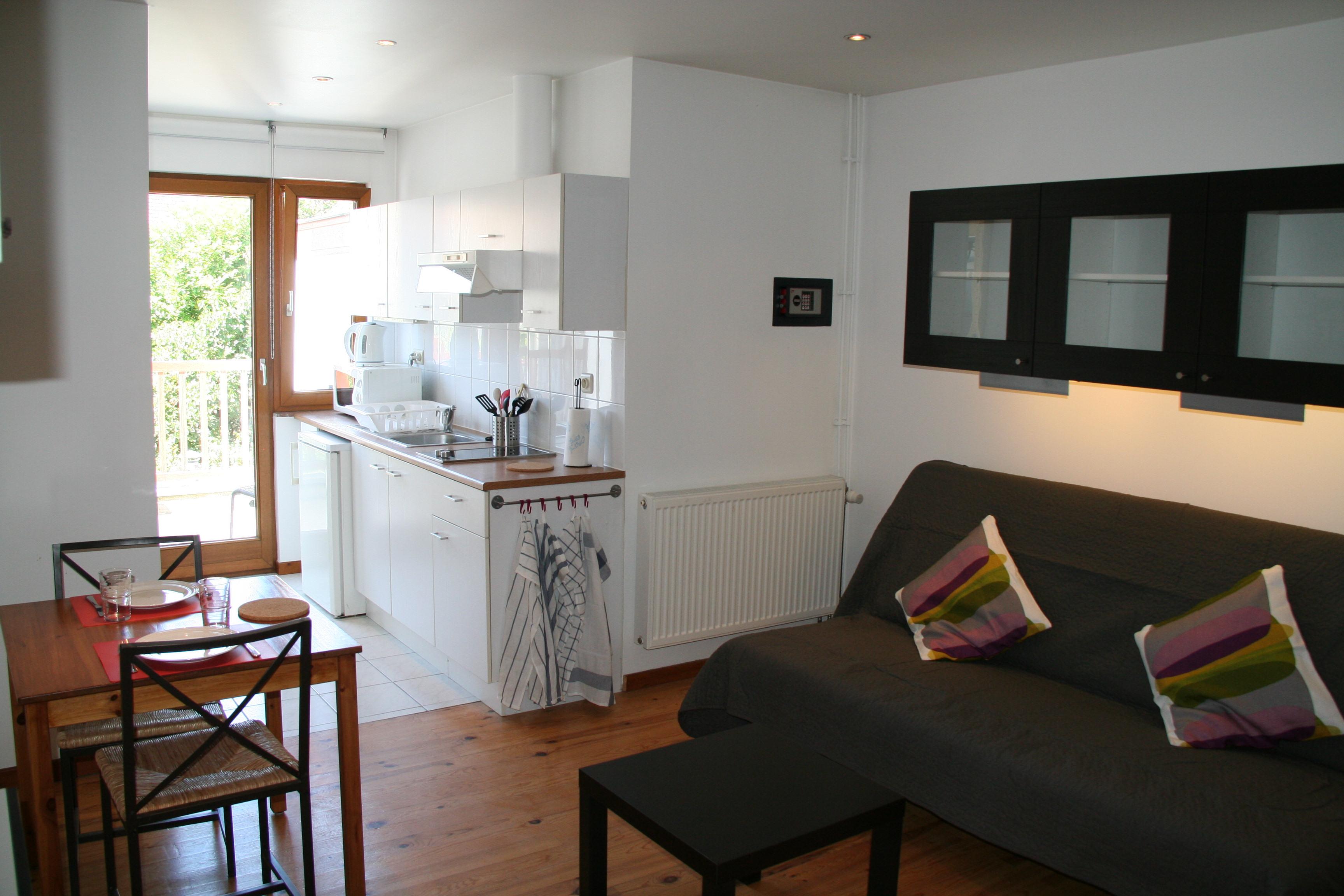 Appartement Meuble Bruxelles Studio Rue Leon Theodor Quartier Place Du Miroir Rent A Flat Brussels